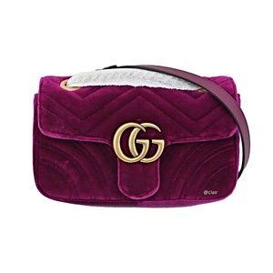 b263dec6c Gucci Mini GG Marmont 2.0 Matelassé Velvet Bag